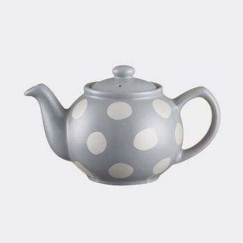Price & Kensington 2-cups teapot with dots mat silver 450ml (per 3pcs)