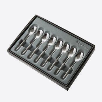 Robert Welch Hidcote set of 8 stainless steel coffee spoons 10.5cm