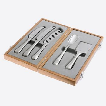 Robert Welch Radford 5 piece set of stainless steel cheese knives