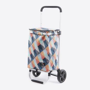 Rixx shopping trolley geometric bright colours 30L