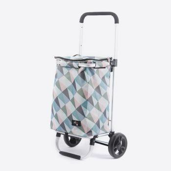 Rixx shopping trolley geometric pastel colours 30L