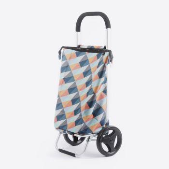Rixx shopping trolley geometric bright colours 38L