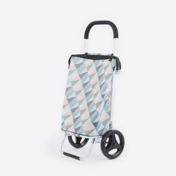 Rixx shopping trolley geometric pastel colours 38L
