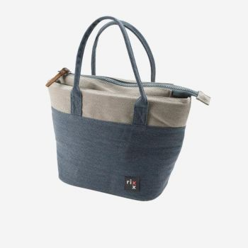 Rixx tote cooler bag dark blue and grey 33x14x21.5cm