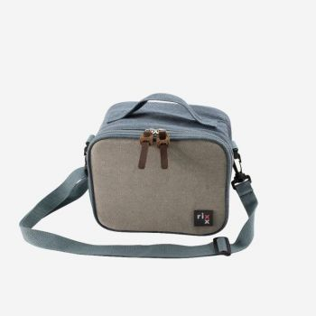 Rixx sling cooler bag dark blue and grey 21x13x17cm