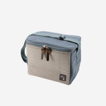 Rixx sling cooler bag dark blue and grey 23x15x19cm