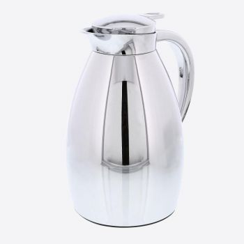 Rixx vacuum flask with glass interior body silver 1L