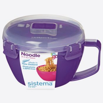 Sistema Microwave Colour noodle bowl 940ml (4 ass.)