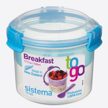 Sistema To Go breakfast bowl with compartment 530ml (6 ass.)