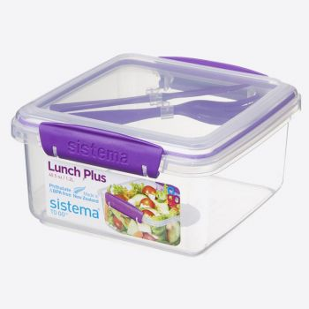 Sistema To Go lunch box with cutlery Lunch Plus 1.2L (4 ass.)