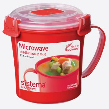 Sistema Microwave soup mug medium 656ml (per 6pcs)