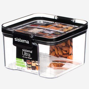Sistema Tritan ultra square storage box black 460ml (per 12pcs)
