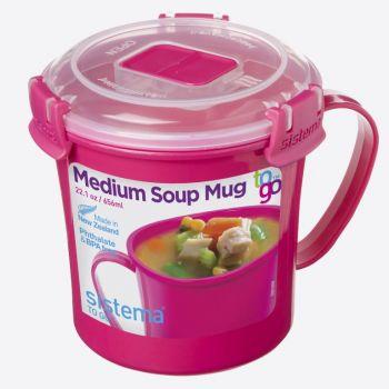 Sistema Microwave Colour soup mug pink 656ml (per 12pcs)