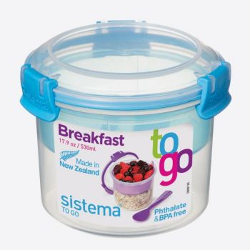 Sistema To Go breakfast bowl with compartements blue 530ml (per 12pcs)