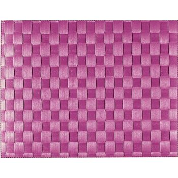 Saleen wide woven plastic placemat purple 30x40cm