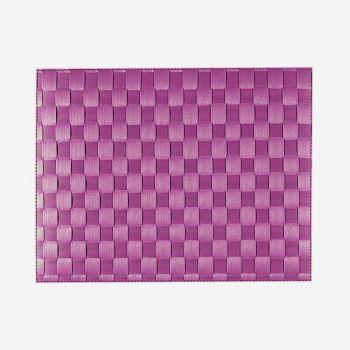 Saleen wide woven plastic placemat purper 30x40cm