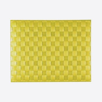 Saleen wide woven plastic placemat lime 30x40cm