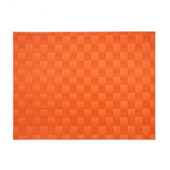 Saleen wide woven plastic placemat orange red 30x40cm