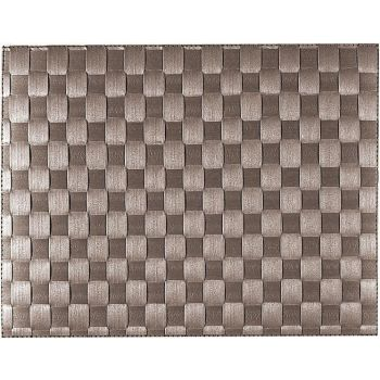 Saleen wide woven plastic placemat taupe 30x40cm