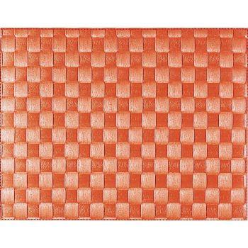 Saleen wide woven plastic placemat orange 30x40cm