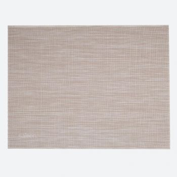 Saleen Uni fine woven plastic placemat beige and white 32x42cm