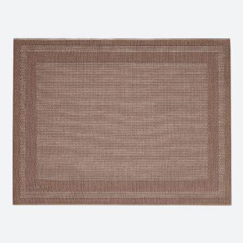 Saleen Rahmen fine woven plastic placemat brown and bronze 32x42cm