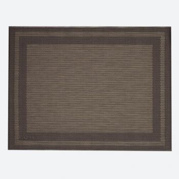 Saleen Rahmen fine woven plastic placemat anthracite and gold 32x42cm