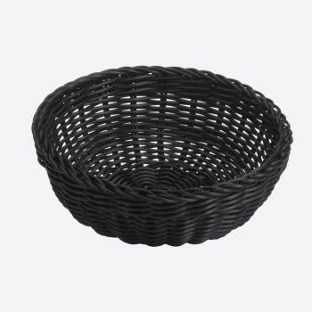 Saleen round woven plastic basket black Ø 23cm H 9cm