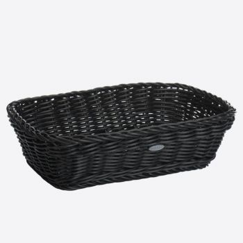 Saleen rectangular woven plastic basket black 31x21x9cm