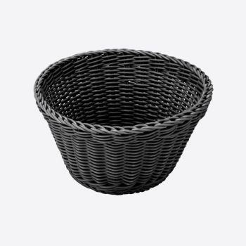 Saleen round woven plastic basket grey Ø 18cm H 10cm