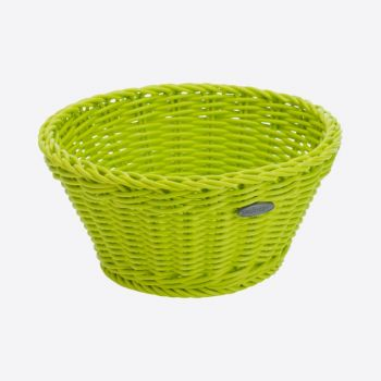 Saleen round woven plastic basket lime Ø 18cm H 10cm