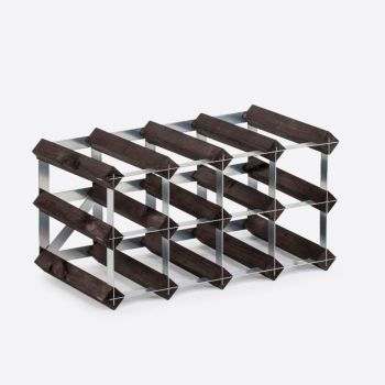 Traditional Wine Rack Co. Burnt oak wine rack for 12 bottles 42x22.8x22.8cm