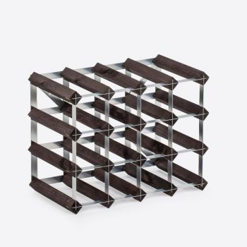 Traditional Wine Rack Co. burnt oak wine rack for 16 bottles 42x22.8x32.4cm
