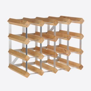 Traditional Wine Rack Co. light oak wine rack for 16 bottles 42x22.8x32.4cm