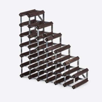 Traditional Wine Rack Co. Stairs burnt oak wine rack for under stairs 61.2x22.8x61.2cm
