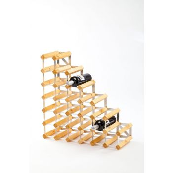 Traditional Wine Rack Co. Stairs light oak wine rack for under stairs 61.2x22.8x61.2cm