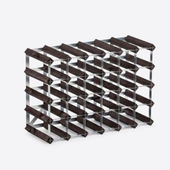 Traditional Wine Rack Co. burnt oak wine rack for 30 bottles 61.2x22.8x42cm
