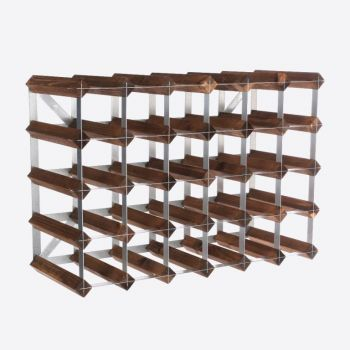 Traditional Wine Rack Co. dark oak wine rack for 30 bottles 61.2x22.8x42cm