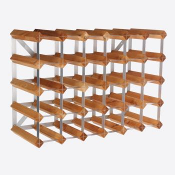 Traditional Wine Rack Co. light oak wine rack for 30 bottles 61.2x22.8x42cm