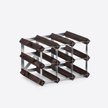 Traditional Wine Rack Co. burnt oak wine rack for 9 bottles 32.4x22.8x22.8cm