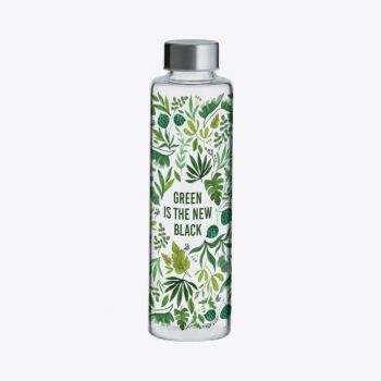 Typhoon Pure glass bottle Green Is The New Black 600ml