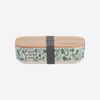 Typhoon Pure bamboo fiber lunch box Green Is The New Black 22x11x6cm