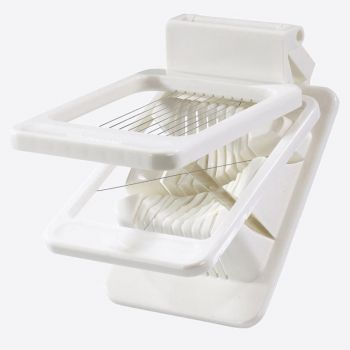 Westmark double egg slicer in plastic and stainless steel white 13.9x8.5x4cm