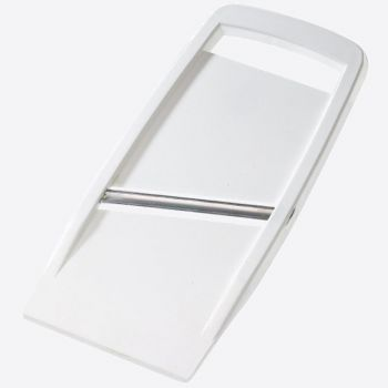 Westmark double sided mandoline slicer in plastic and stainless steel white 22x11x1.1cm