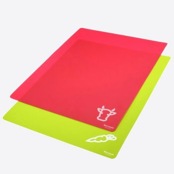 Westmark set of 2 flexible plastic cutting boards red and green 38x30.5cm