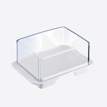 Westmark Exclusiv plastic butter dish white 14.3x9.4x6.4cm