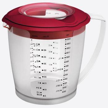 Westmark Helena plastic measuring jug with lid red 1.4L