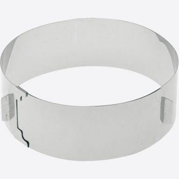 Westmark stainless steel adjustable cake setting ring 16 tot 30cm