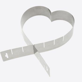 Westmark stainless steel adjustable cake setting ring heart 45x5x1.3cm