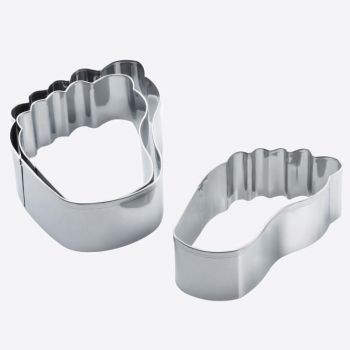 Westmark set of 3 stainless steel cookie cutters feet 6.5; 8 and 11cm